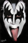 gene simmons by jokazart247