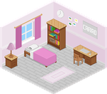 Pixel Art Bedroom by Shonly