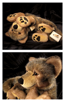 Lifesize Kosen Lying Wolf Pup by The-Toy-Chest