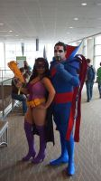 Mr. Sinster and Huntress by DevinShadowV