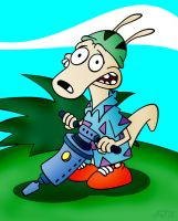 Rocko With A Jackhammer by Netaro
