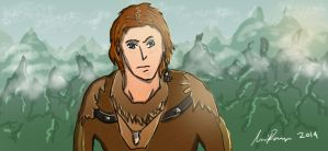 Illustration-Wild Young Mountain Boy by squidge16
