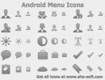Android Menu Icons by Ikont