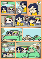 Cleavage Car Accident by theMegaHirosheb