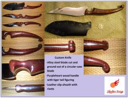 Tigertail Purpleheart Knife by SkyfireDragon