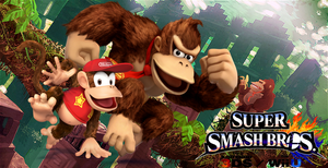 Super Smash Bros. Wii U / 3DS - Donkey and Diddy by Legend-tony980