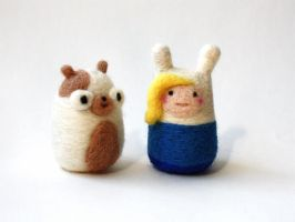 Adventure Time Fionna and Cake by michelleness