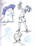 Pepper and Hayley concepts2 by ZazzyPaws