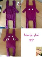 Banny's plush WIP by Clare-Sparda