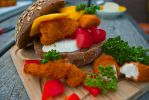 Fresh sweet and spicy fried chicken burger by RocknRollCustoms