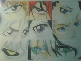 Bleach character eyes by LaniKiryu666