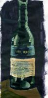 Wine Bottle Painting by kingmancheng