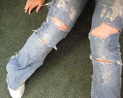 Photo 4- Ripped Jeans 3 by Winter-Falls