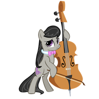 Octavia and her Bass by Myythic