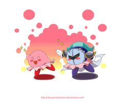 Kirby And Meta Knight Ballet by Primrose-Rachel