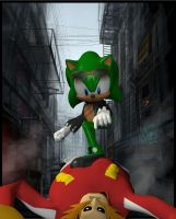 I am Scourge the Hedgehog by Rachidna