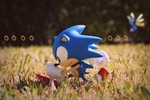 Green Hill Zone Sonic the Hedgehog by cristianolourenco