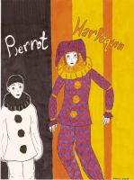 The Pierrot and the Harlequin by ToxicVampire6606