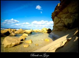 Beach on Gozo by calimer00