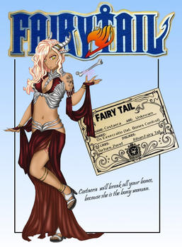 FAIRY TAIL OC - Costaera, the Etherious of Bones by DarkLordLuzifer