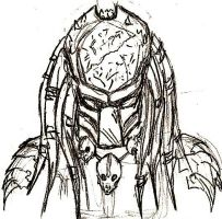 Predator Doodle 1 by Demonic-Chaos