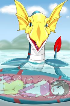 Seadramon eat kari! by whi-sky
