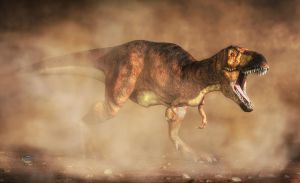 T-Rex in a Dust Storm by deskridge