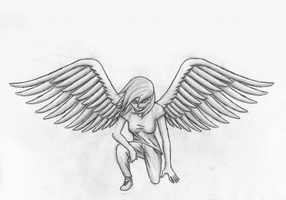 Human Rainbow Dash With Wings by GravityTHunder