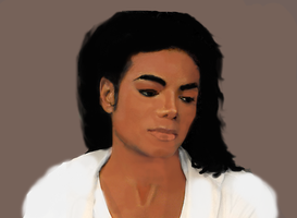 MJJ painting by TheRealSexyKate