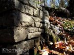 Flowing Water from a Stone Wall by kmlkreations