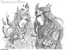 Cynadrion and Mourne by cymbrele