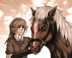 Zelda - Link and Epona by XMenouX
