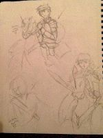 Medieval Battle Scene practices X3 by Ambercatchan