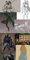 Honorable mentions - oldies and wips by Sythgara