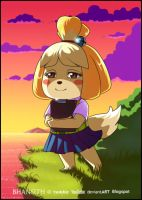 Animal Crossing: Isabelle (Birthday Gift) by Bhansith