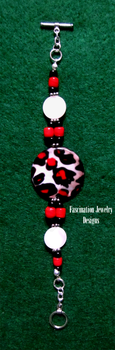 Leopard Shell Bracelet by BloodRed-Orchid