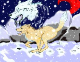 .:Winterloss-Whispers in the snow:. by CrimsonFang-desu