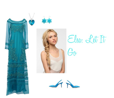 Polyvore - Elsa from Frozen by WinterMoon95