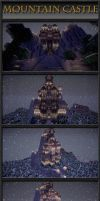 Minecraft Mountain Castle by VV01