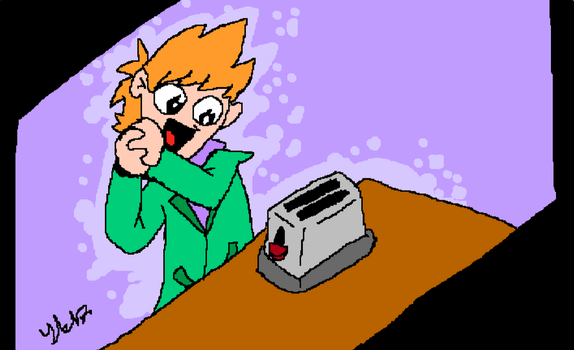 picture of matt admiring a toaster remake lel by Midnight-Absol