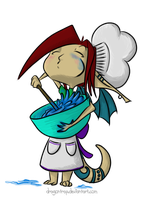 Amuse is making treats by dragontrap