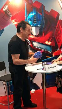 Peter Cullen and my Kitty Optimus! by umitaro