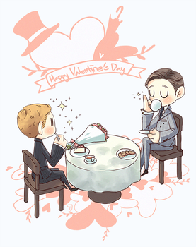 Harry/Eggsy Valentine Day Collabo art. by anon-141