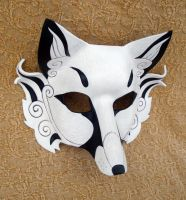 White Inari Mask 2011 by merimask