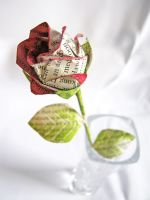 Long Stemmed Paper Rose by EccentricOcean