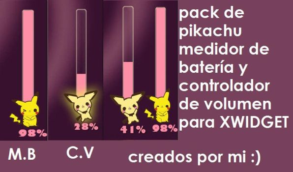 Pikachu pack by AlondraPass