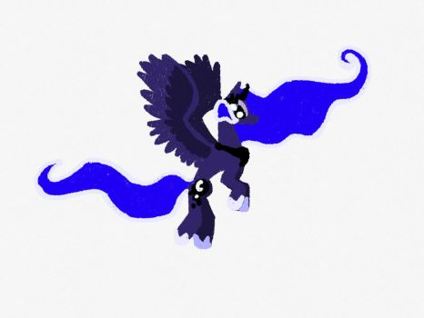 Luna in Flight by MyLittleParakeet