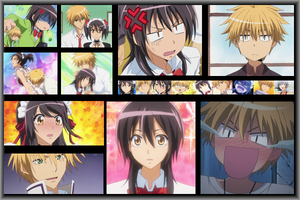 Usui and Misaki Collage by EclairDesigns