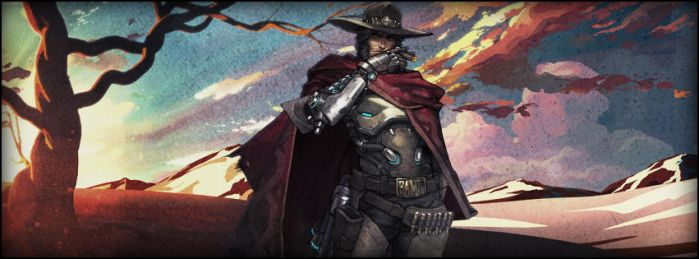 Overwatch - McCree - facebookcover by beanousme