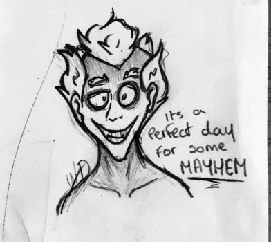 It's a perfect day for some Mayhem! by Whooshie-Duck